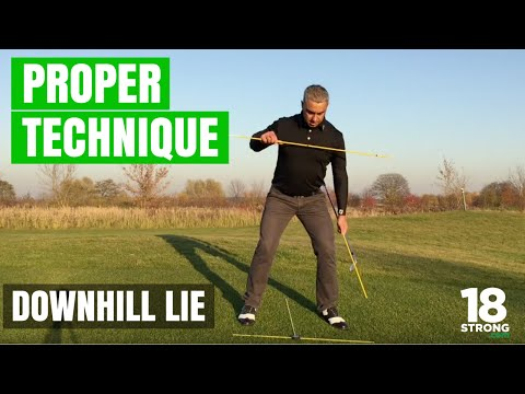 Downhill Lie Shots - Proper Technique