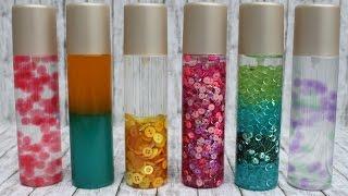 Sensorik-Flaschen selber herstellen / DIY Spielzeug für Kinder (visuelle Wahrnehmung)