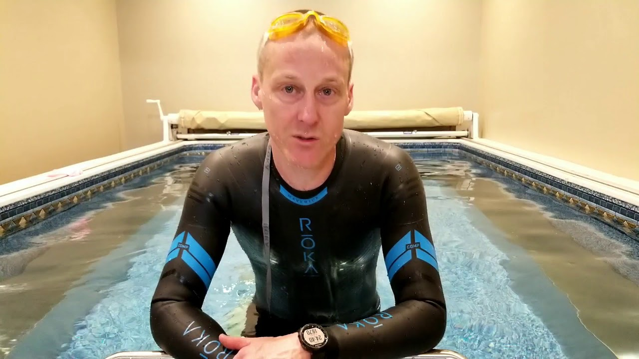 bec45aab3df Roka Maverick Comp II Wetsuit - Review in Endless Pool - YouTube