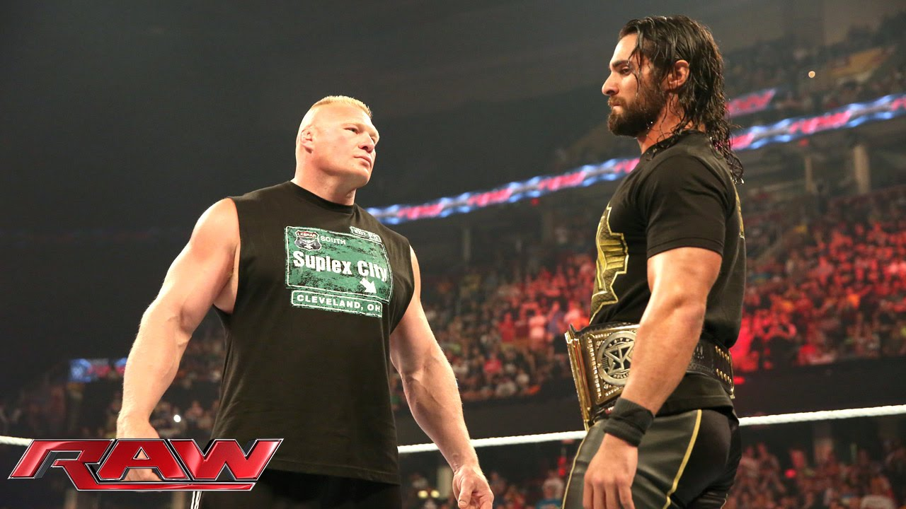 Download Brock Lesnar is revealed as Seth Rollins' next challenger: Raw, June 15, 2015