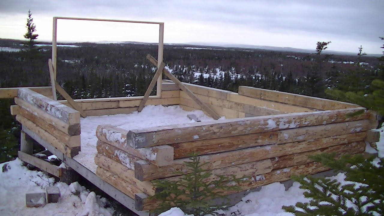 Amazing photo of Log Cabin Build January Progress   with #354996 color and 1920x1080 pixels