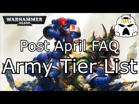 Warhammer 40k Army Tier list - Post April 2019 FAQ