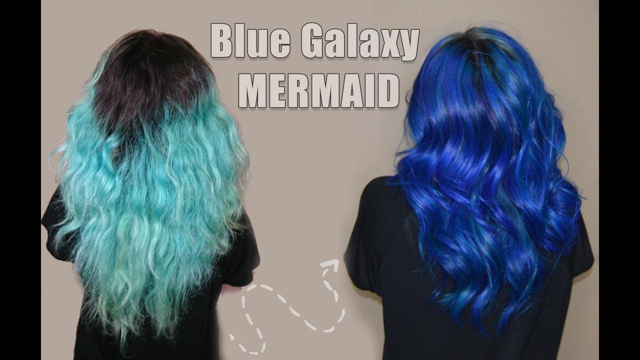 Blue Galaxy Mermaid Hair Pravana X Guy Tang S Myideny