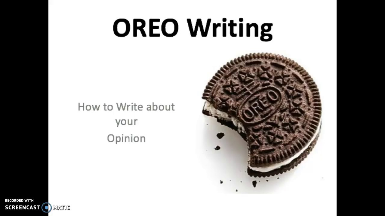 small resolution of OREO Opinion Writing - YouTube