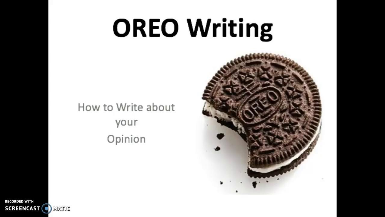 medium resolution of OREO Opinion Writing - YouTube