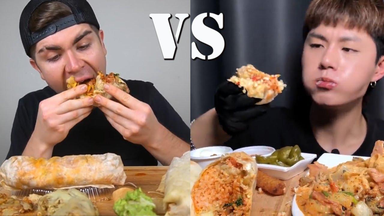 HOW TO EAT AMERICANS VS KOREAN | BURRITO OVERLOAD!!!