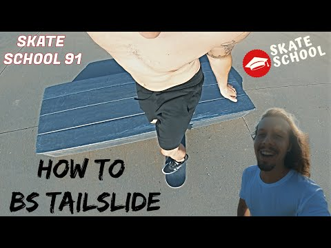 How to BS Tailslide | Skate School 91