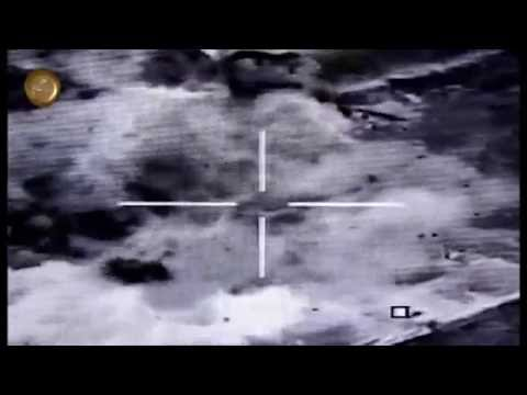 Iraqi Air Force F16 kill over 100 ISIS fighters and 3 gun trucks in Mosul