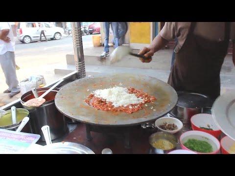 Pav Bhaji Tawa Butter pulav preparation - Indian street food
