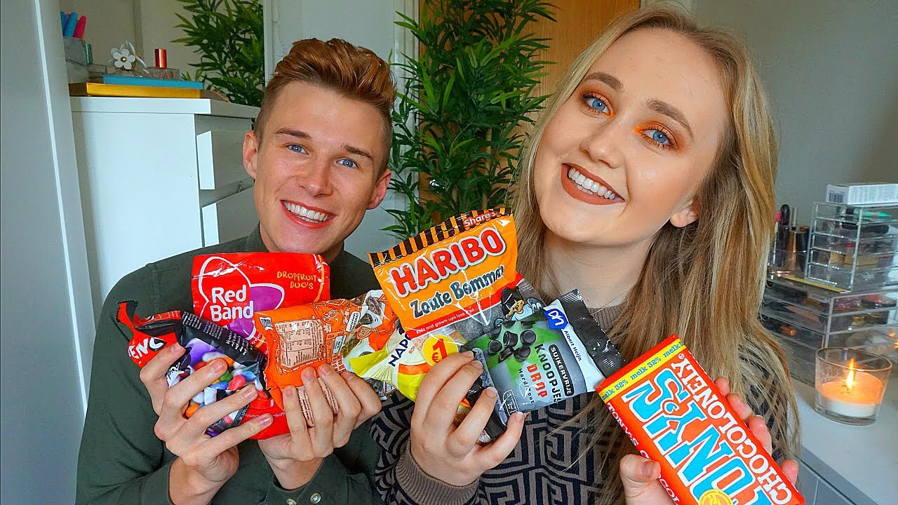 TRYING DUTCH SWEETS!!! 🍬🍭 the HARDEST challenge YET!!