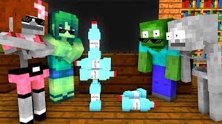 - Monster School BOTTLE FLIP Challenge Minecraft Animation