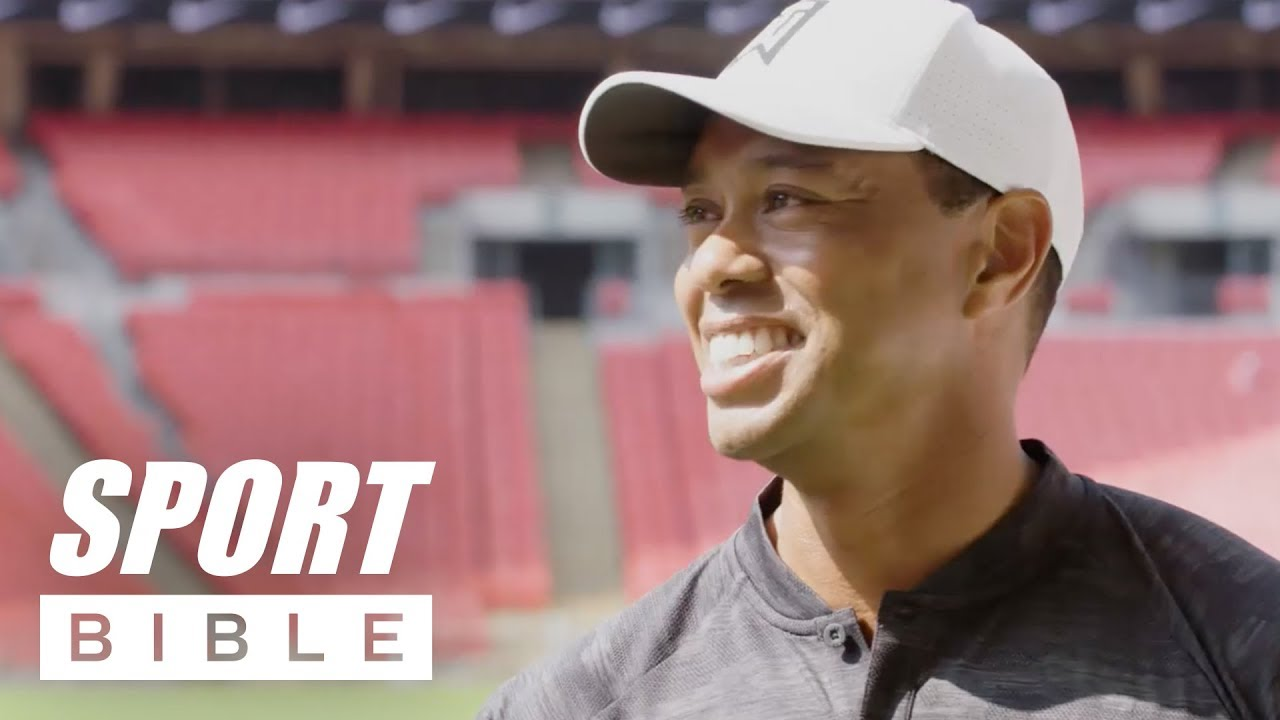 Tiger Woods Does Crazy Trick Shots In Wembley Stadium