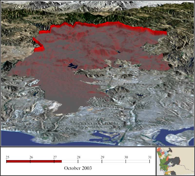 Cedar Fire Timelapse YouTube - Cedar fire map