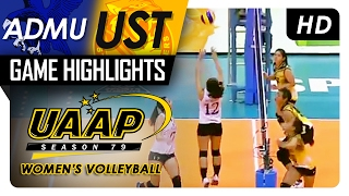 ADMU vs UST | Game Highlights | UAAP 79 WV | February 4, 2017