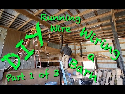 wiring diagram for lights and outlets honeywell tje pressure transducer diy - a barn running wire. part 1 of 3 youtube