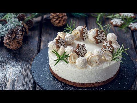 Gingerbread Coconut Christmas Cake