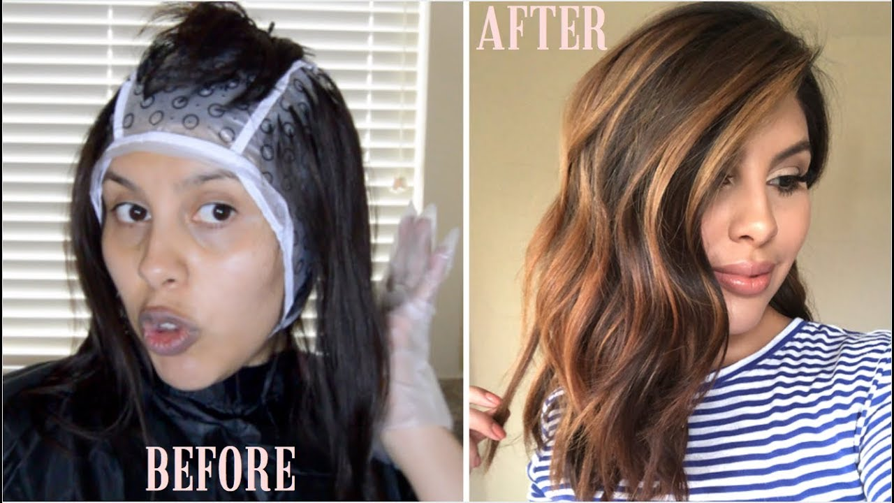 Diy Highlights Using Cap Revlon Frost Glow Highlighting Kit