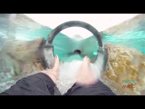 Dolphin Plunge Water Slide Pov At Aquatica Seaworld Orlando