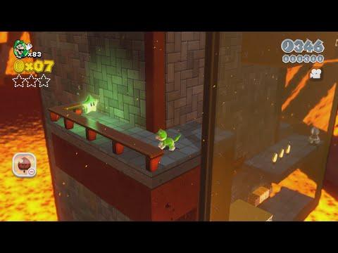 Super Mario 3D World: Castle-5 Trick Trap Tower (100 % All Stars & Stamp) [Gameplay Walkthrough]