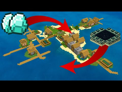 The BEST VILLAGE ISLAND SEED For Minecraft Bedrock Edition!