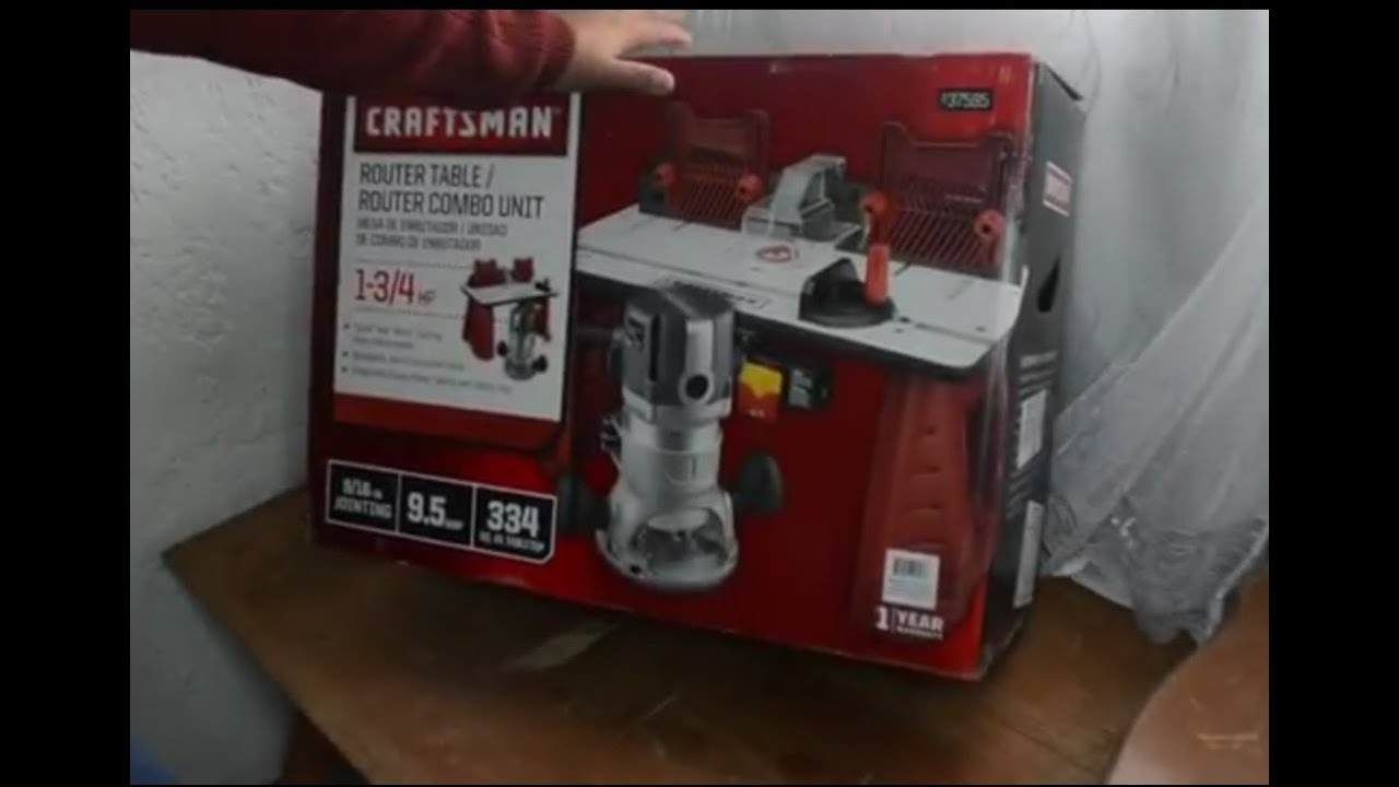 Desempacando combo router craftman craftsman router router desempacando combo router craftman craftsman router router table combo unboxing youtube greentooth Gallery