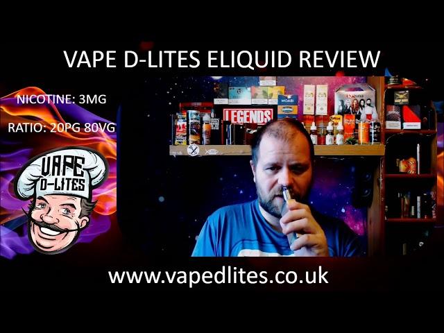VAPE D LITES ELIQUID REVIEW PART 1   DANISH SWIRL, DEEP FRIED COOKIES & MAPLE GLAZED