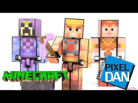 Minecraft He-Man Skeletor & Teela Player One Mattel Figures Video Review