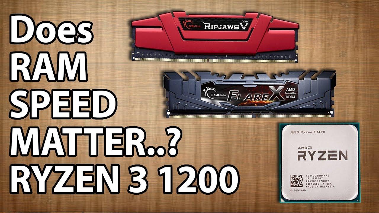 2400MHz Vs  2666MHz Vs  3200MHz RAM Test || RYZEN 3 1200 (3 9GHz)