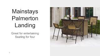 Dining Mainstays Palmerton Landing Bar Height Patio Set