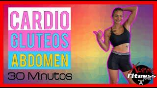 EJERCICIOS CARDIO🥵 GLUTEOS Y ABDOMEN ❤️🔥en CASA 30 minutos