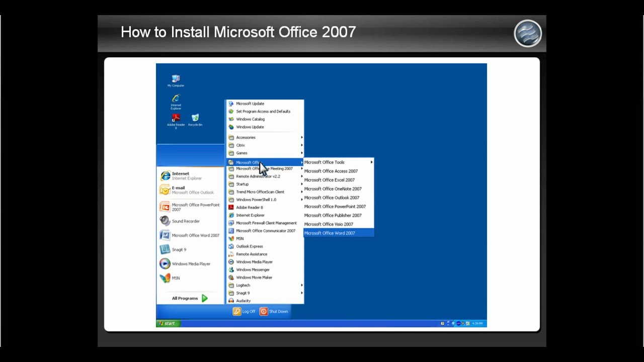 How to Install Microsoft Office 2007  YouTube