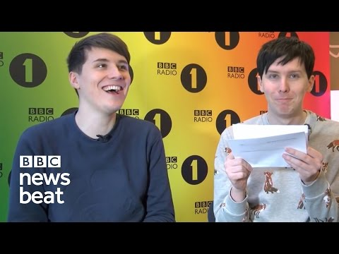 Dan and Phil read out most insulting tweets  |  BBC Newsbeat