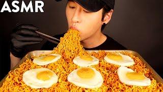 ASMR SPICY INDOMIE MI GORENG MUKBANG (No Talking) COOKING & EATING SOUNDS | Zach Choi ASMR
