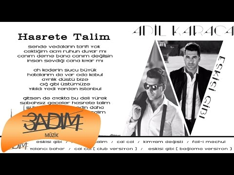 Adil Karaca - Hasrete Talim ( Official Lyric Video )