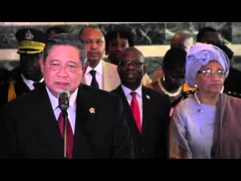 Liberia news -  President SusiloBambangYudhoyono of Indonesia