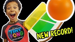 TINY PONG - Solo Table Tennis Game! Can You Beat Our TOP SCORE!?