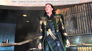 The Avengers 2012 - Hulk vs Loki Puny God [HD]