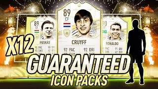 NO WAY!!!! 12 x GUARANTEED BASE ICON PACKS! FIFA 21 Ultimate Team