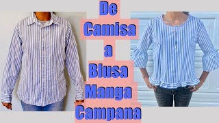 Transforma una Camisa en Blusa Manga Campana