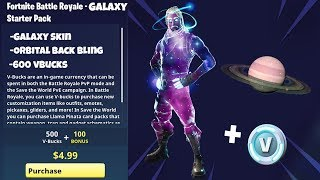 NEW STARTER PACK SKIN in Fortnite.. (Galaxy Skin Starter Pack 3)