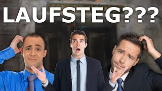 """The Boys argue over the English translation of """"Laufsteg""""."""