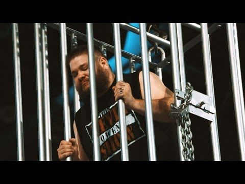 Dizzying slow-motion footage of Kevin Owens' shark cage entrapment on Raw: Exclusive, Jan. 25, 2017