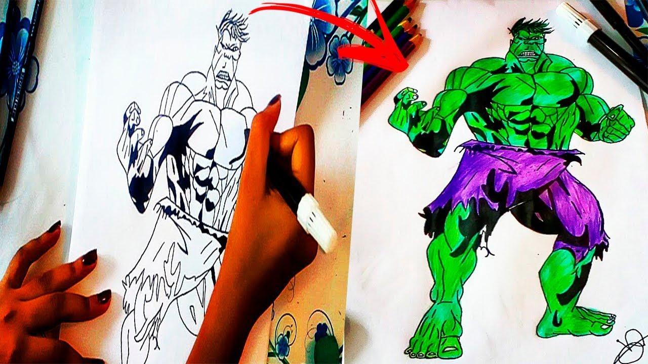como desenhar o hulk vingadores guerra infinita potiratv youtube