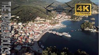 Parga Greece Valtos Beach Drone footage.