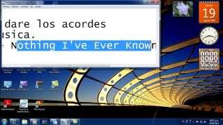 Spirit - Nothing I've Ever Known (Instrumental)- acorde