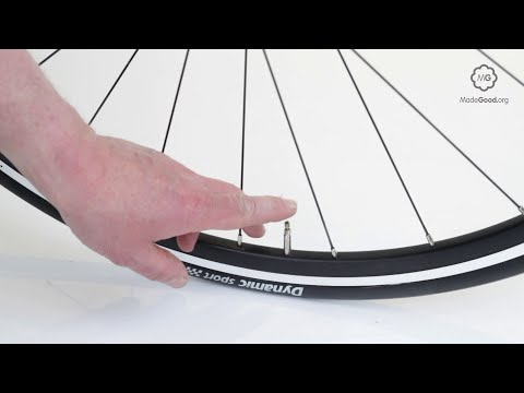 Inflate A Bike Tyre With A Presta Valve Or Sports Valve Youtube