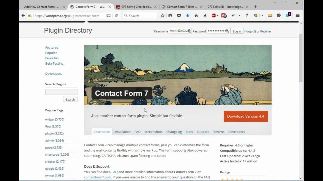 Contact Form 7 Mail Setup Youtube