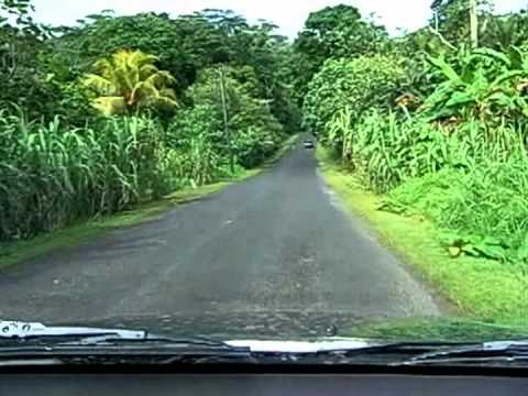 Driving to work at Congress in the Federated States of Micronesia