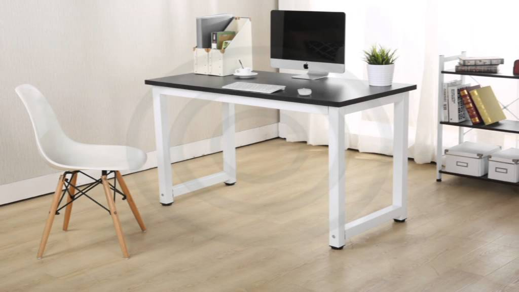 Computer Desk Beech Black Walnut White