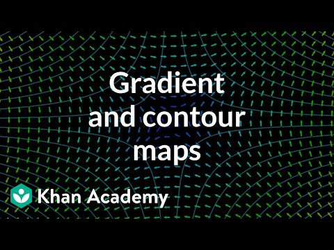 Gradient and contour maps